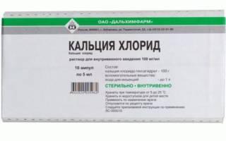 Кальций хлор для электрофореза