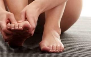 Спазм мышц стопы