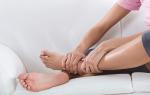 Опухоль ноги в области щиколотки