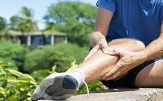 Резкая боль в голени правой ноги